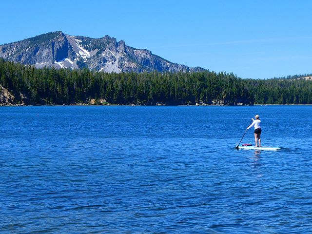 First sup of the season in the books! Paulina Peak in the background. #centraloregon #optoutside