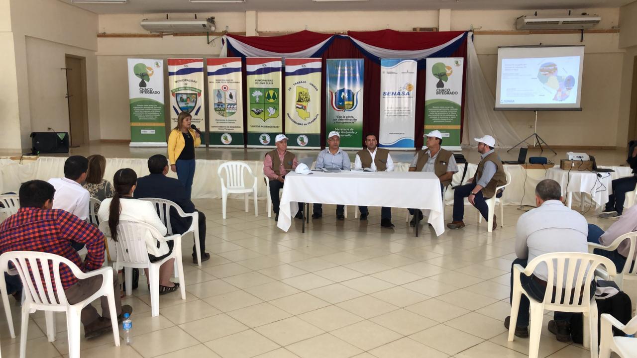 El evento propiciado por SENASA se realizó en la sede de la Gobernación de Boquerón.