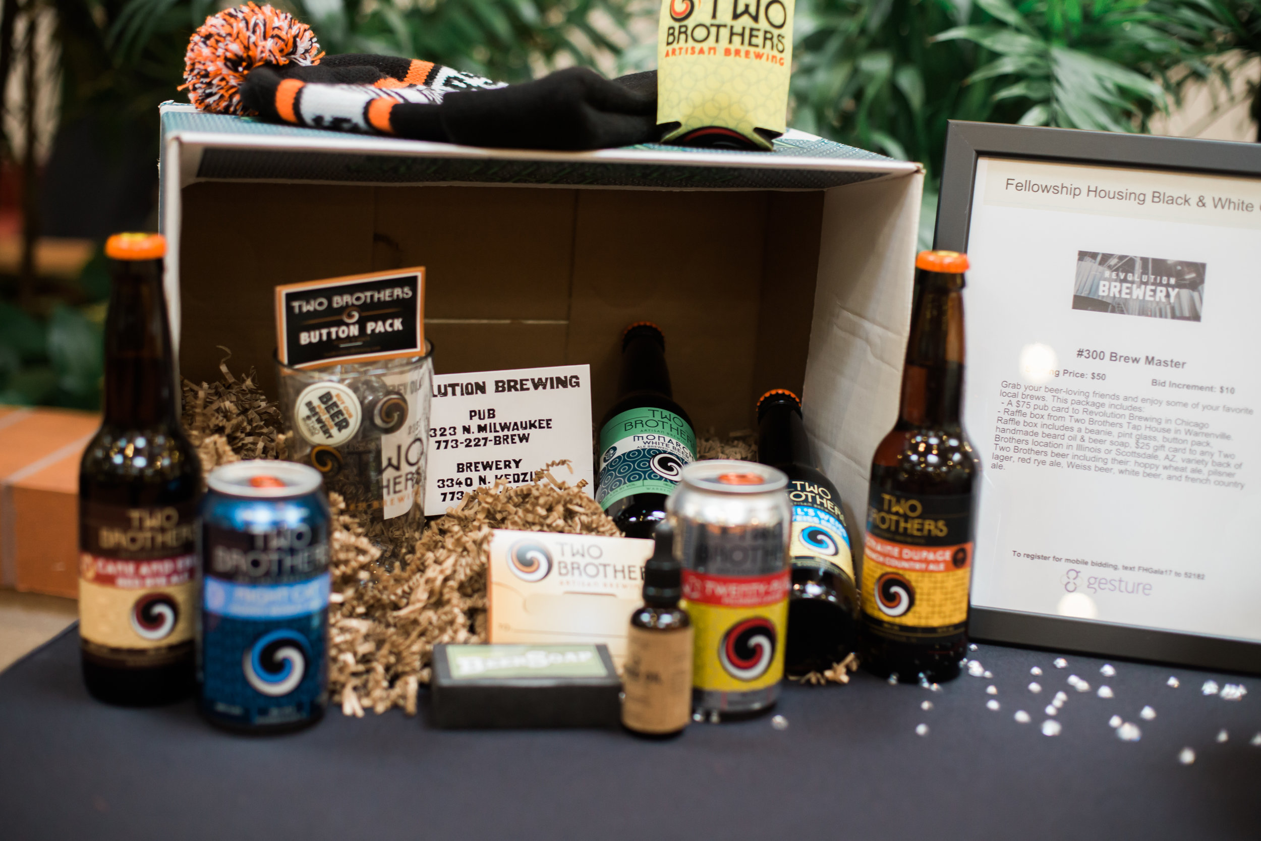 Last year's silent auction included this package from a local brewery.
