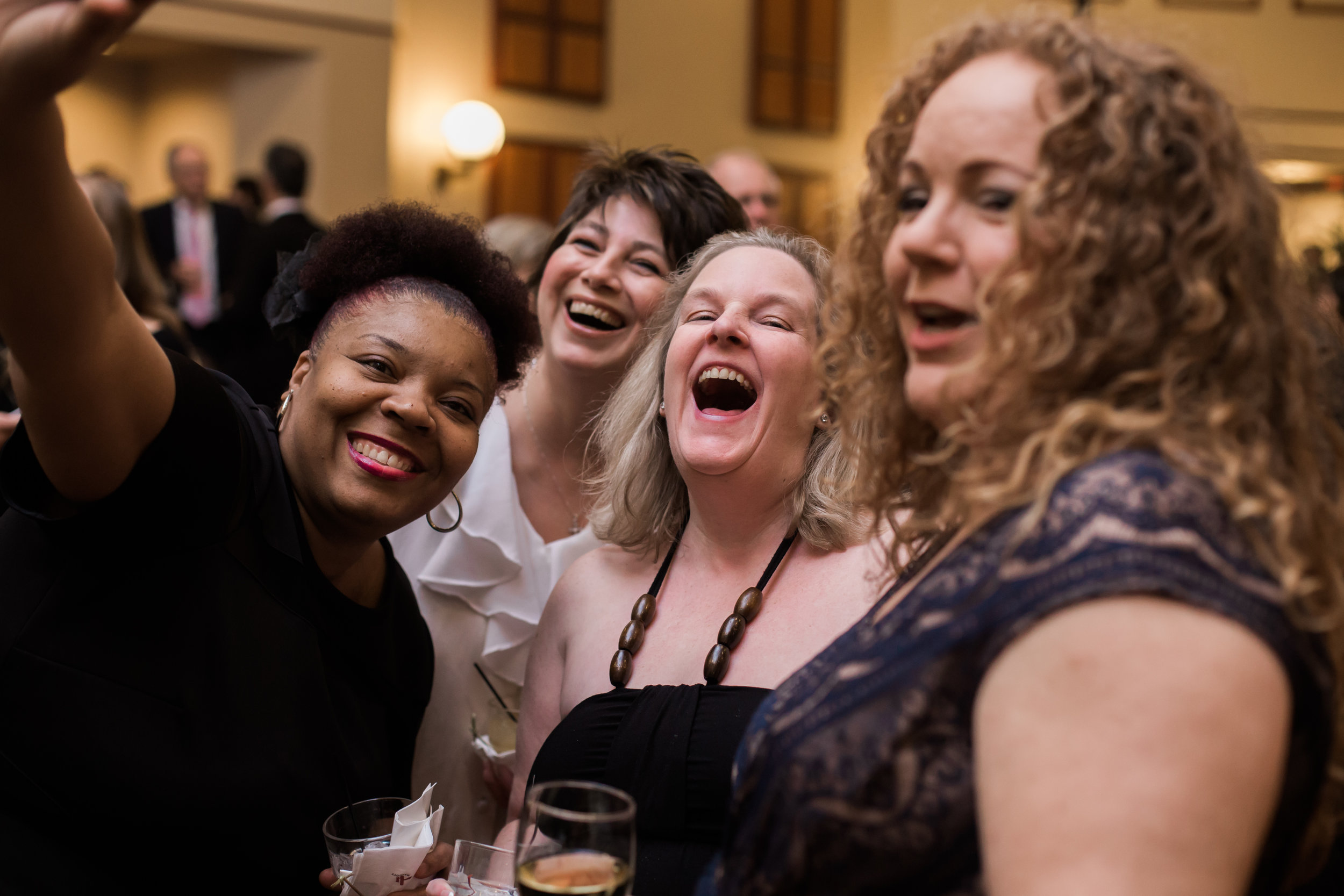 Some of our graduates enjoy last year's gala.