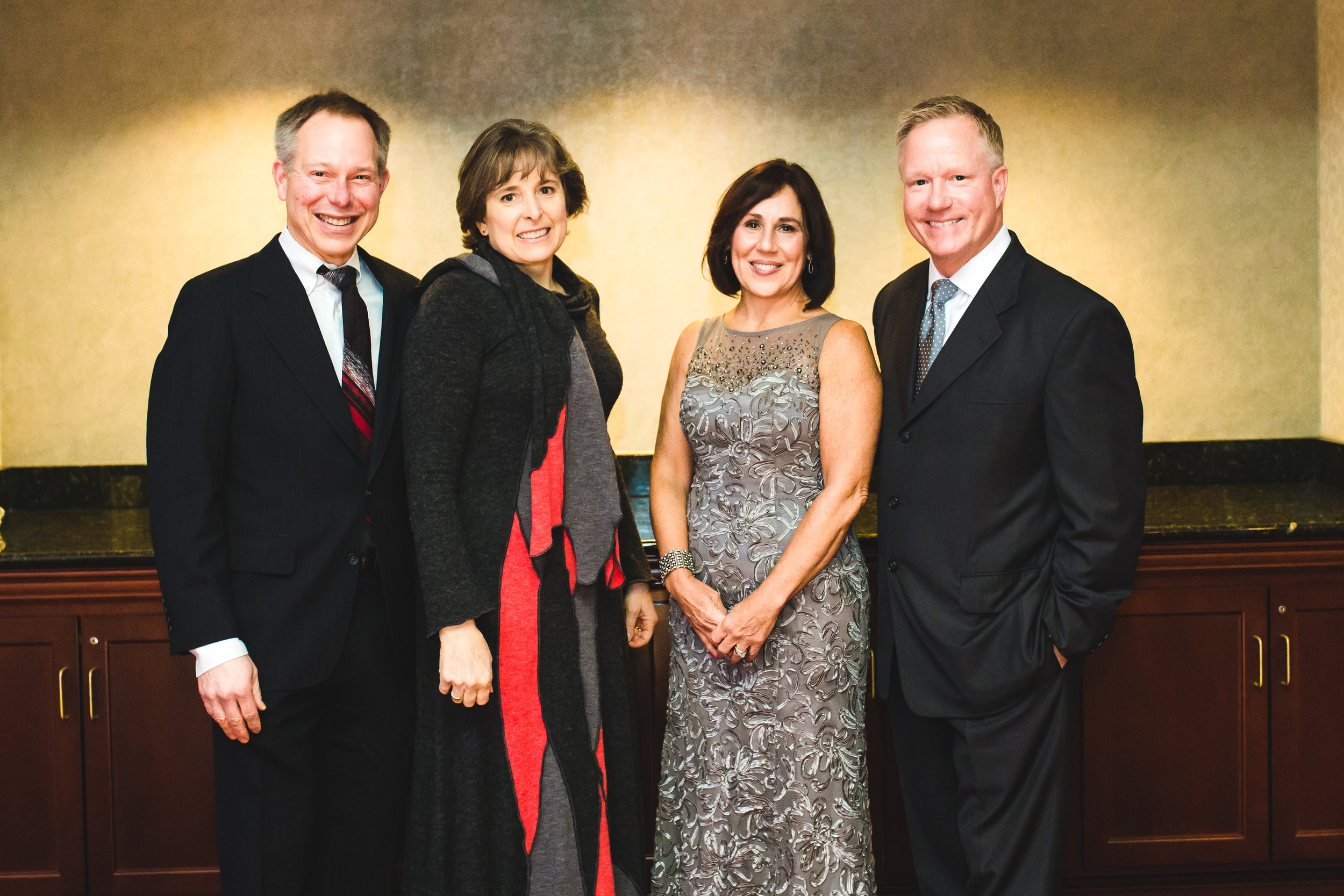 Photo from 2016 Fellowship Housing Gala. From left to right; David and Peggy Shumway, Ginny and John Opshal.