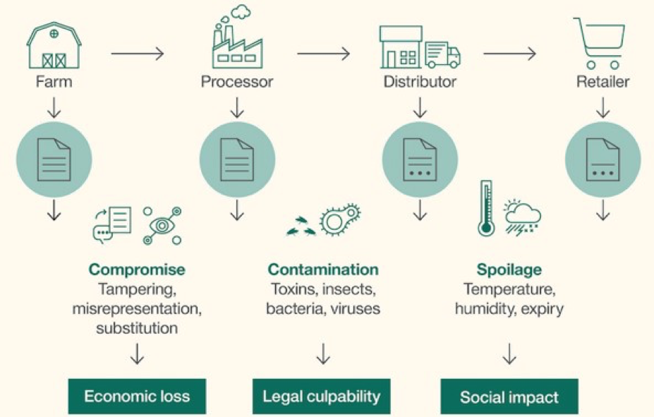 Figure: Complexity of the current food chain (Source:  IBM ).