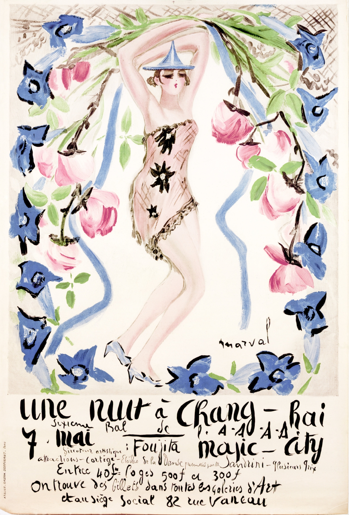 Poster for the A A A A, Jacqueline Marval, 1927