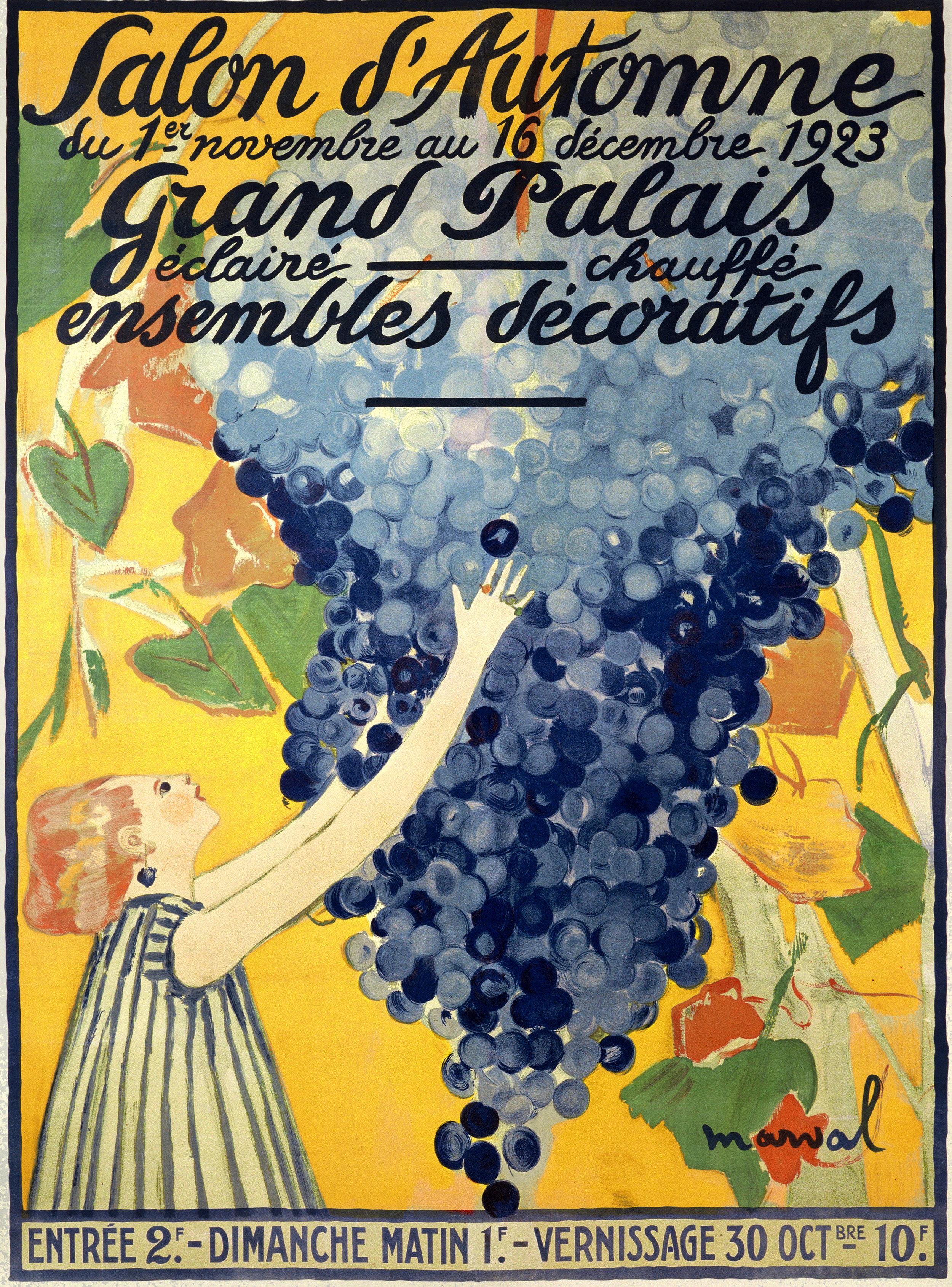Salon d'Automne poster, Jacqueline Marval, 1923