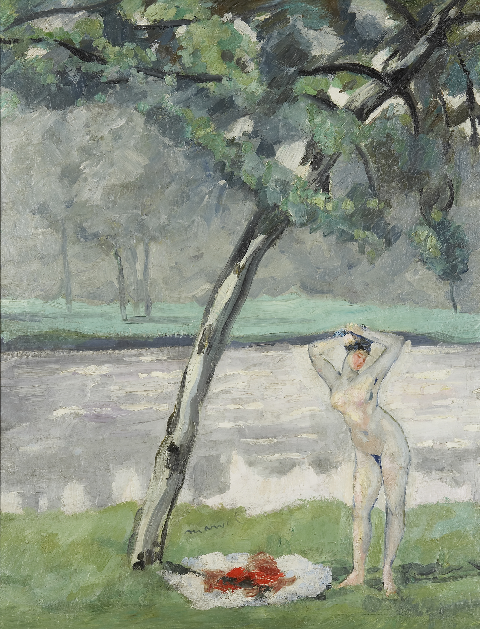 La Baigneuse, tribute to Paul Cézanne, Jacqueline Marval, 1909