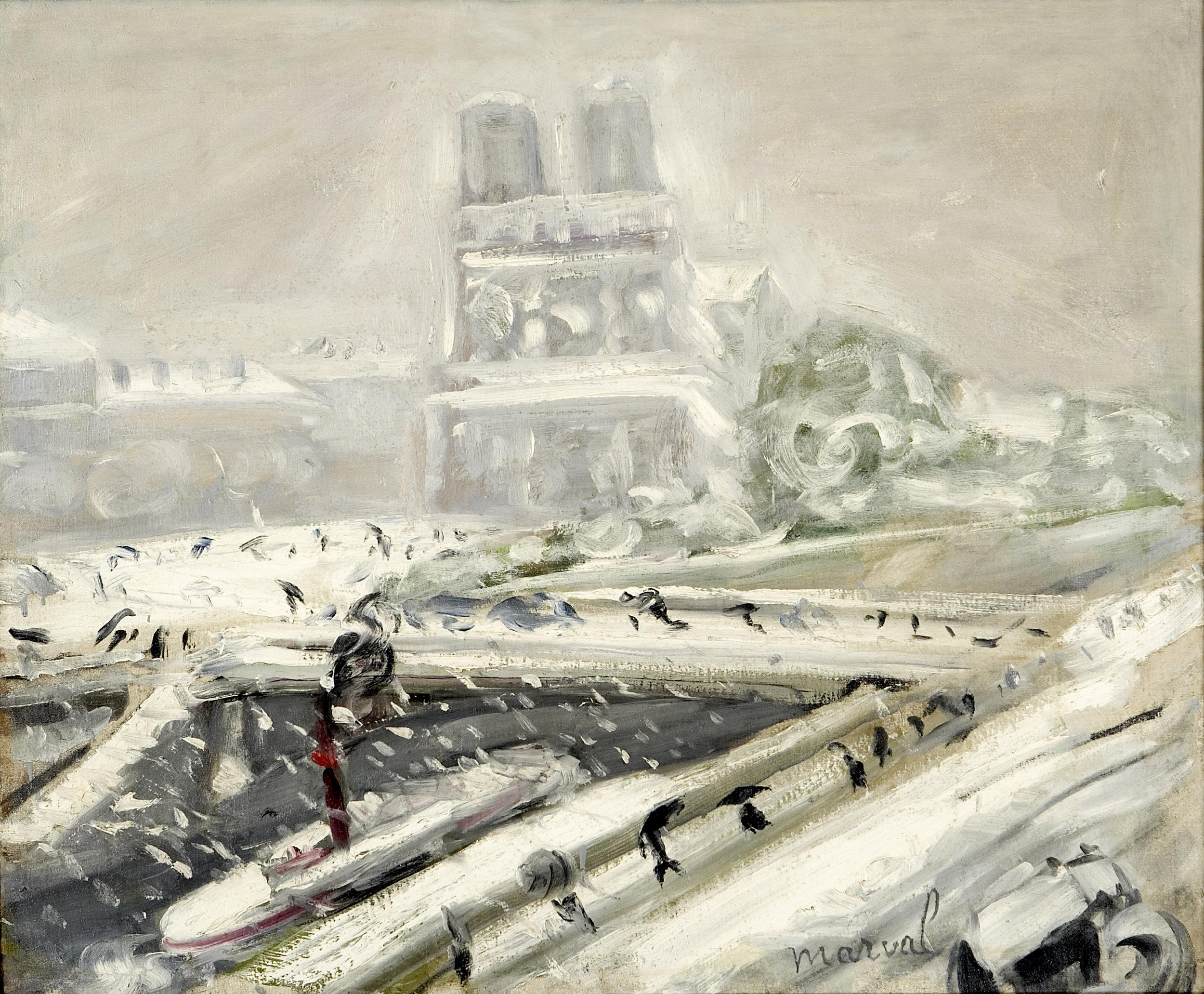 Tempête de Neige sur Notre-Dame, Jacqueline Marval, 1917