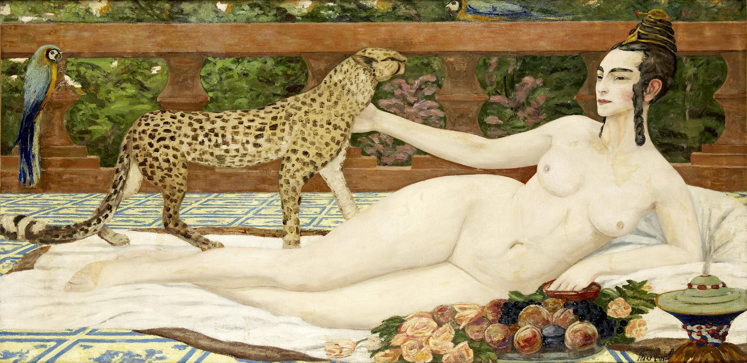Odalisque au Guépard, Jacqueline Marval, 1900