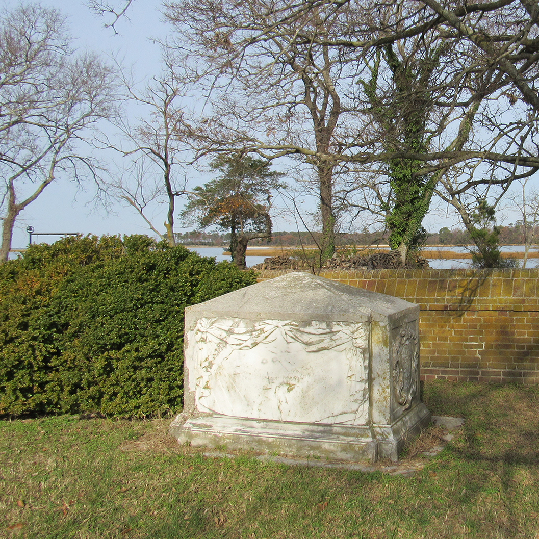 CUSTIS TOMBS ON PLANTATION CREEK - In Brief: A short drive from Kiptopeke along Arlington Road, primarily of local historical interest, but occasionally host to flocks of shorebirds and field birds; usually worth a check in autumn and winter, perhaps during inclement or very wet weather in spring.Access: 2157 Arlington Chase Road, Cape Charles, VA 23310. Day use year-round. No bathroom facilities.
