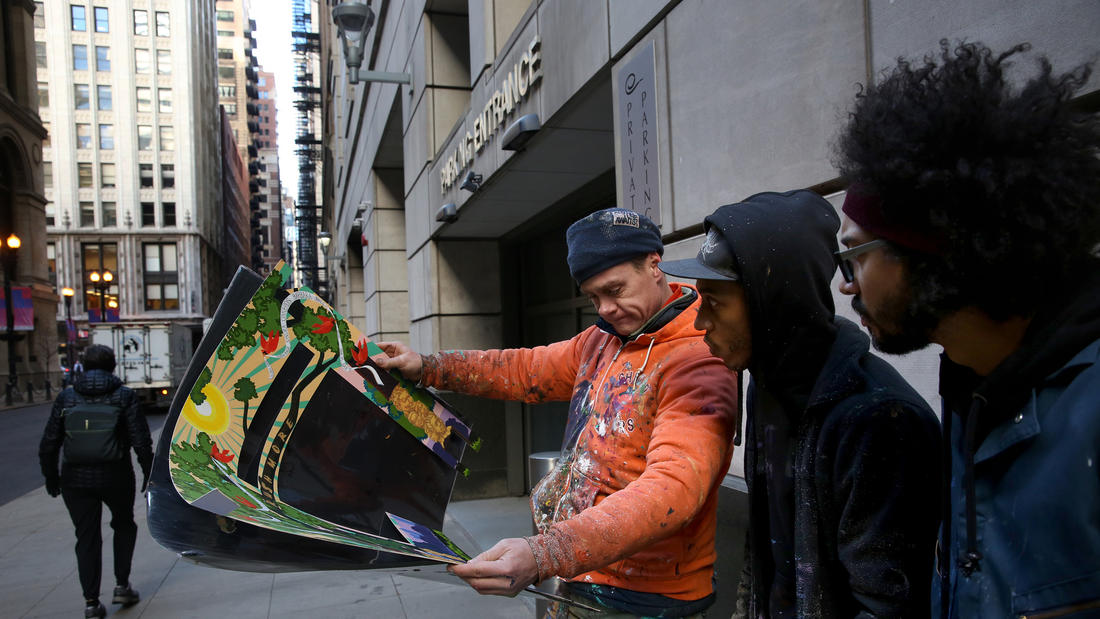 Muralist Jeff Zimmerman and Team Painters
