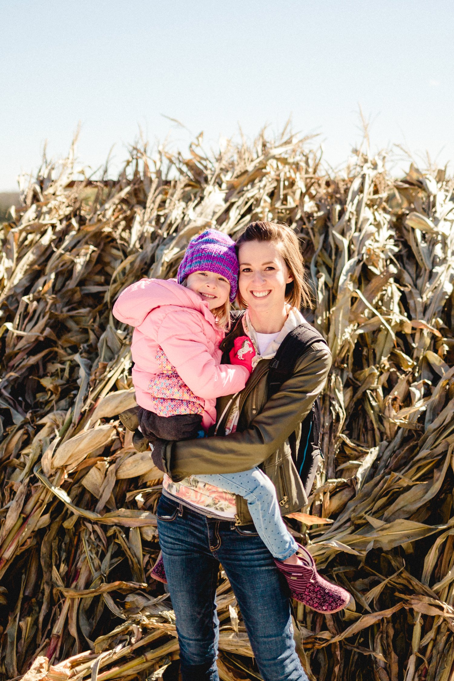 Kenna and I picking pumpkins with Daddy at Nickajack Farms