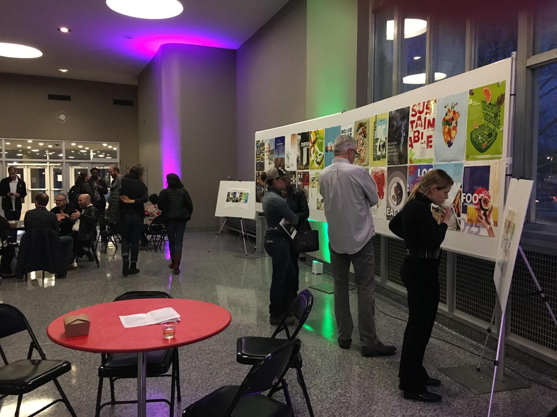 Display event in Mershon lobby, Sullivant Hall