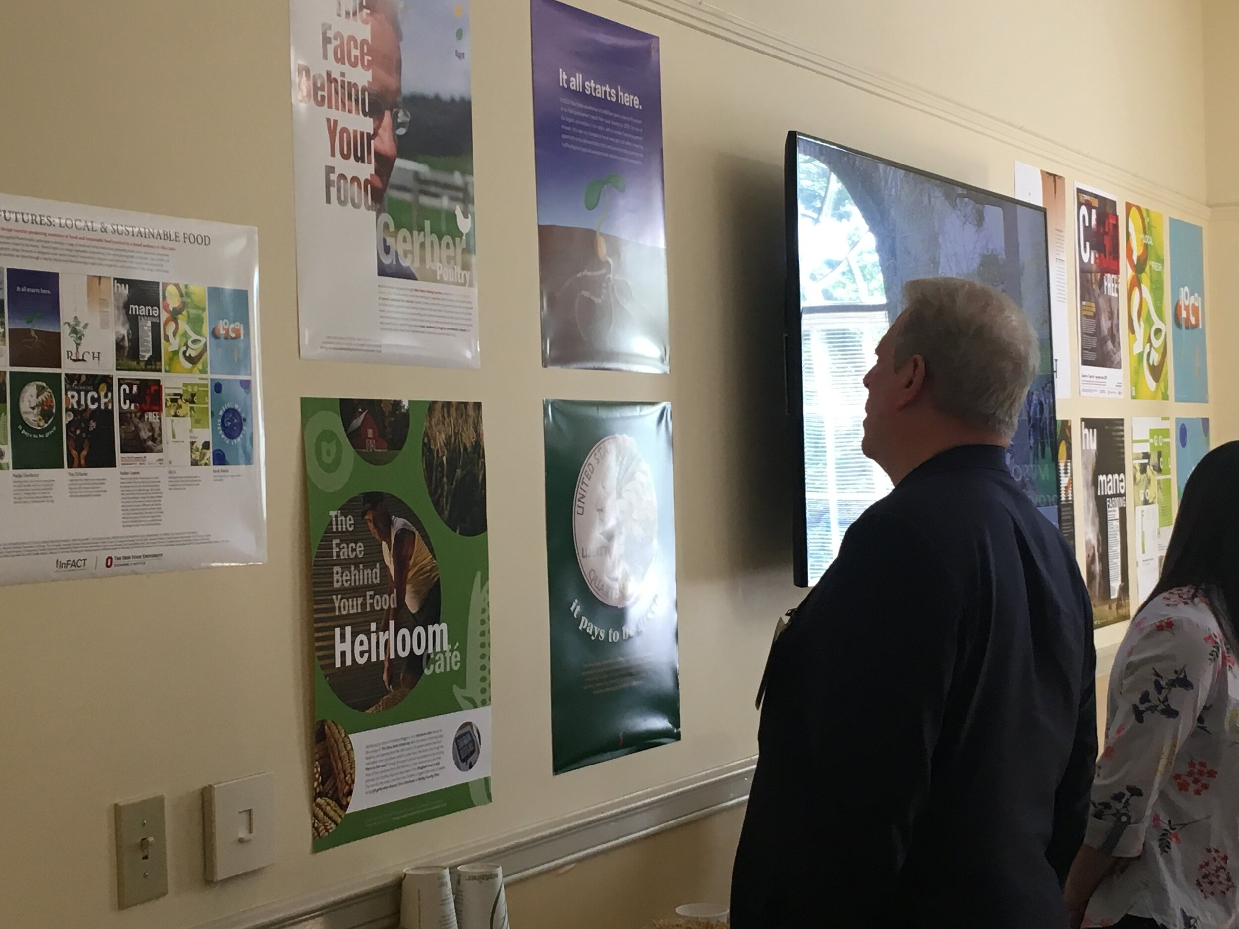 Student posters were also displayed at the On Food and Faith Conference, held in May at The Methodist Theological School in Ohio and funded by OSU inFACT. Among the attendees was former Vice President Al Gore (pictured).