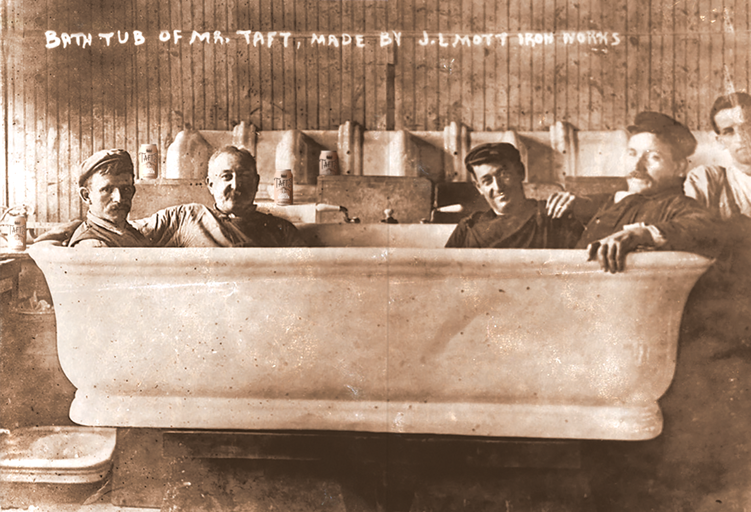 Rub a Dub Dub, a Tub for Big Lub  A 7-foot, 41-inch wide tub was installed in the White House after Taft's 1908 election win. It weighed a ton – literally.