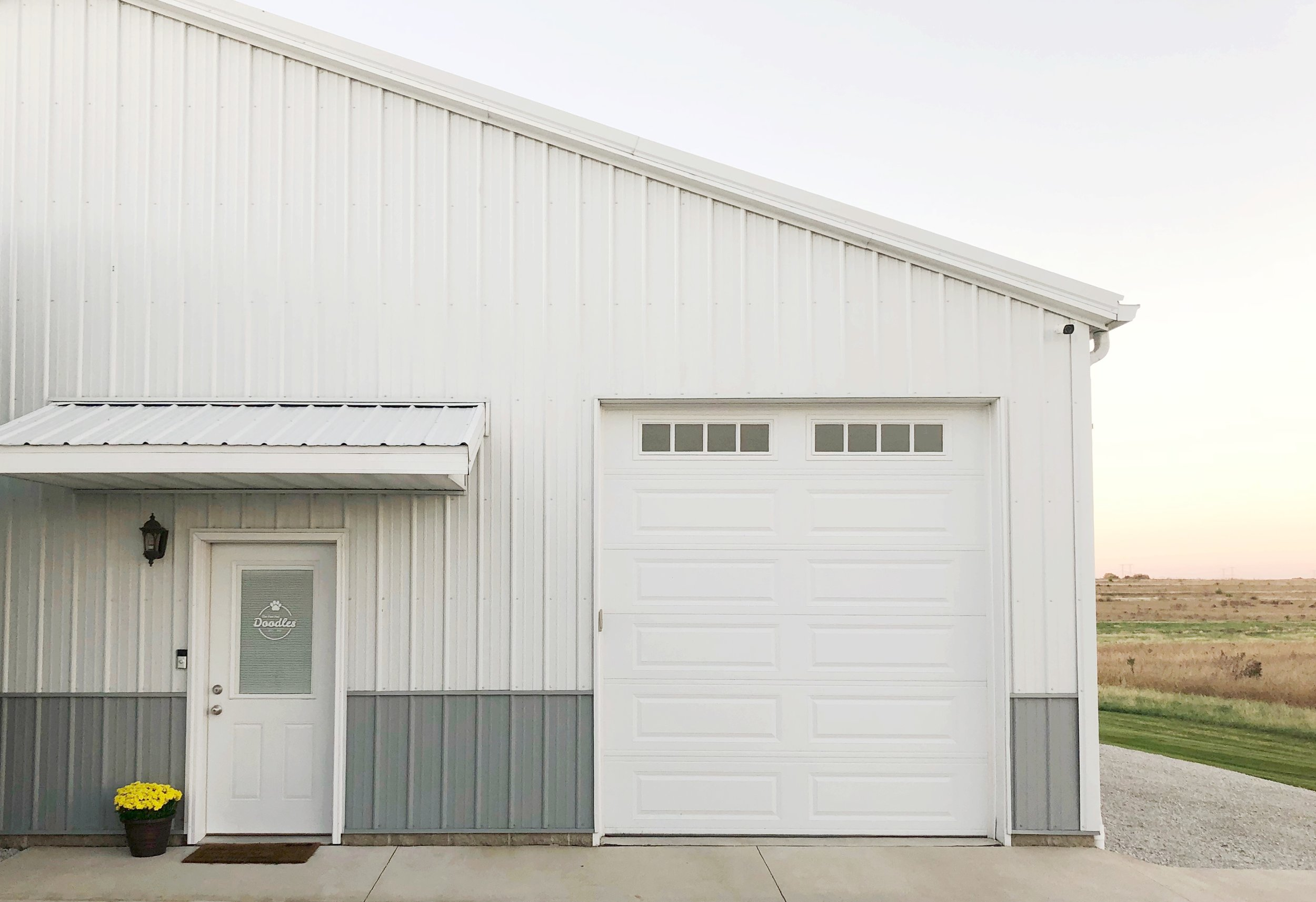 This is our facility where you'll be welcomed into our showroom. We have parking in front of these doors.