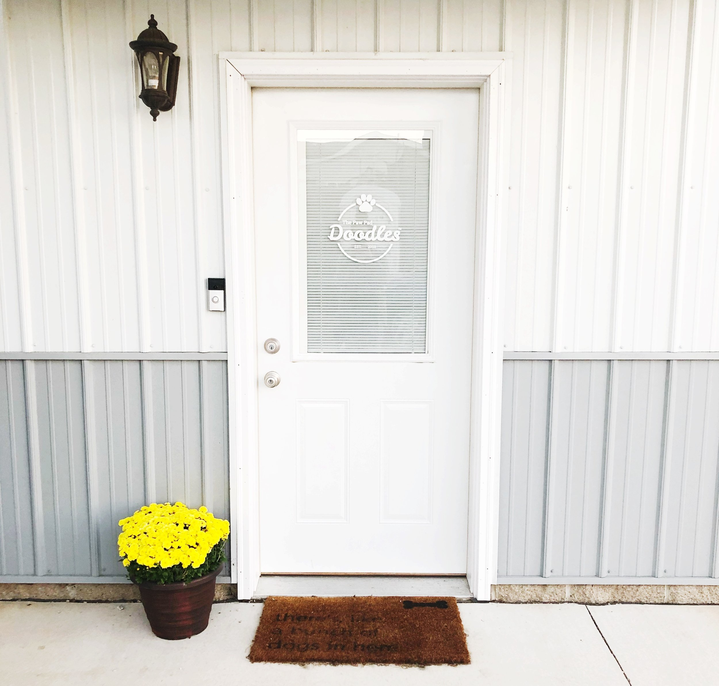 Please ring the doorbell when you arrive for your appointment.