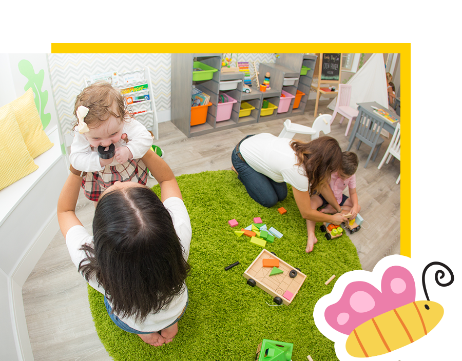 Activities - Our program includes activities that will spark your child's curiosity and allow him to develop in a mindful and independent way. Our eco-friendly toys, materials, and books, offer safe environment for your child's healthy growth.