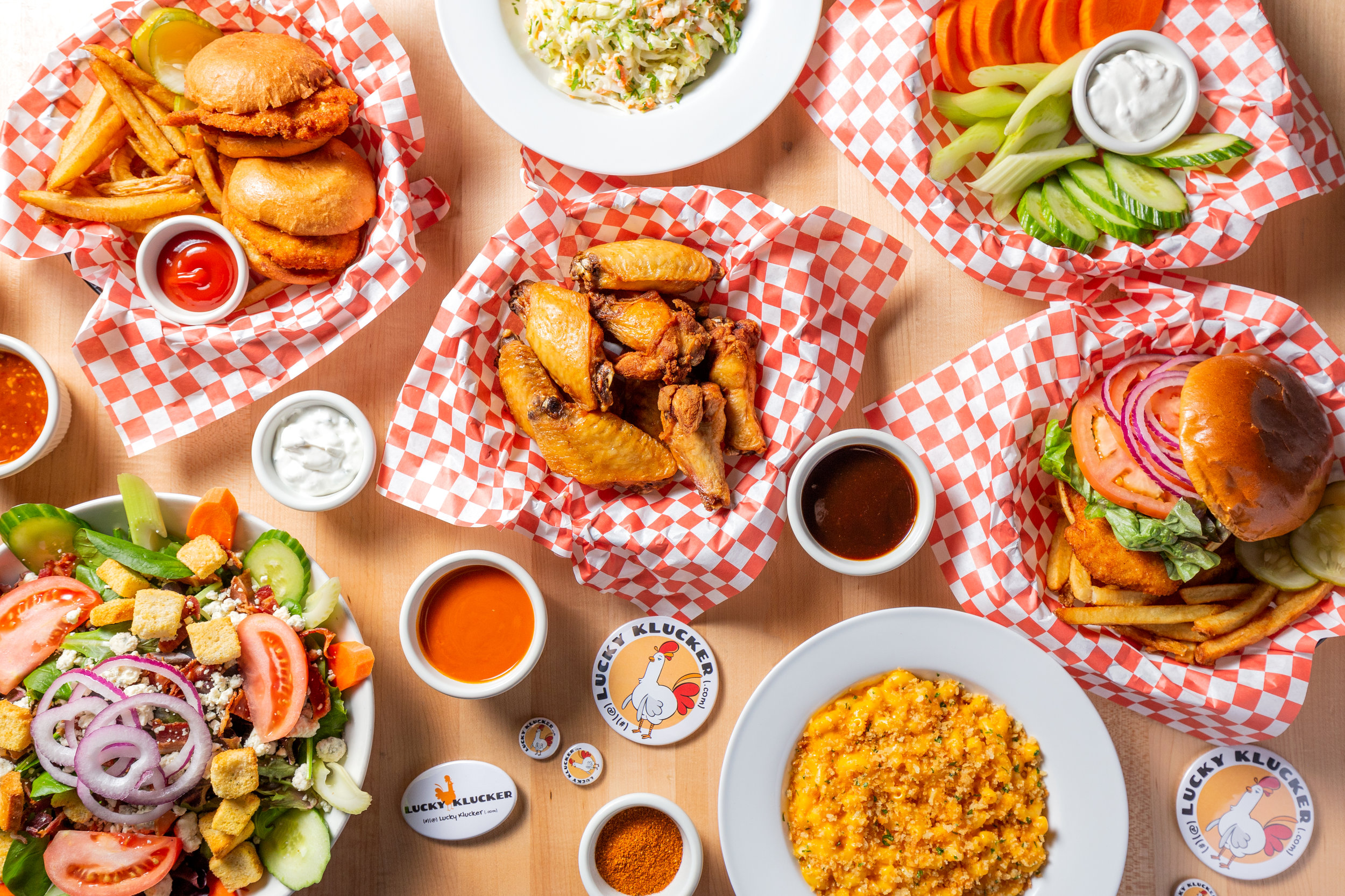 CATERING - Craving wings while watching the game? Keeping it cool with the work crew? Family picnic need a chicken tender? Let the Lucky Klucker cater your next event!