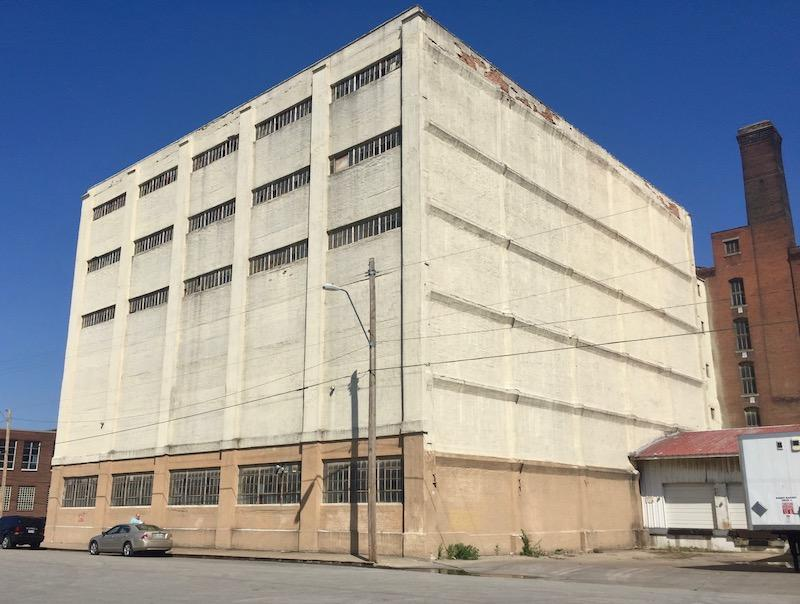 The original building to be renovated into a garage  (photo credit: KC business Journal)