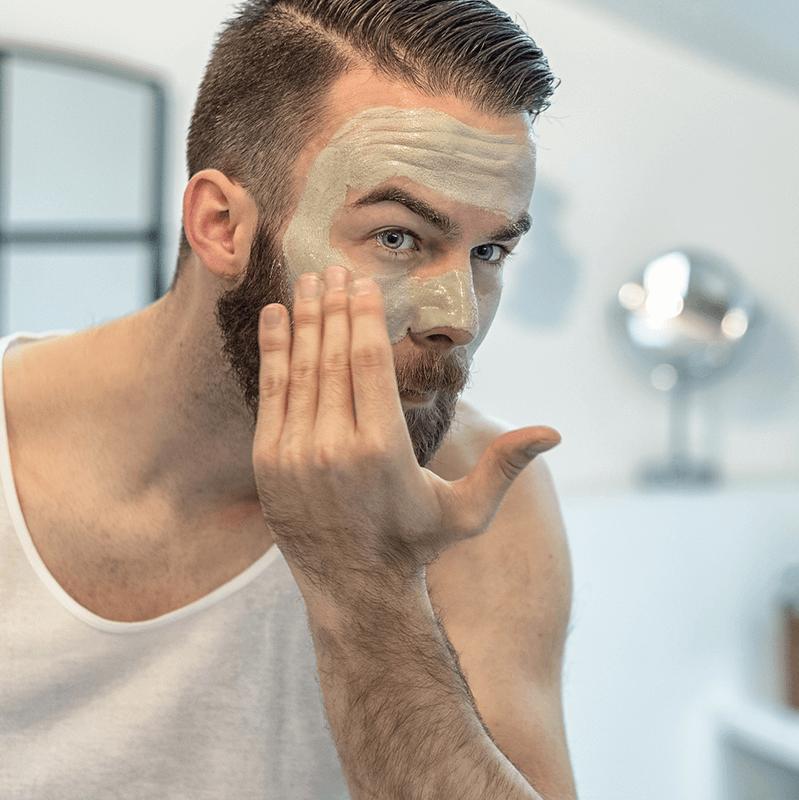 Man in facial Mask