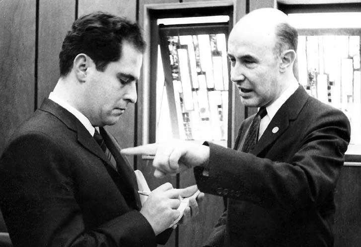 Manuel Mejido  y Alfonso García Robles, Premio Nobel de la Paz 1982.
