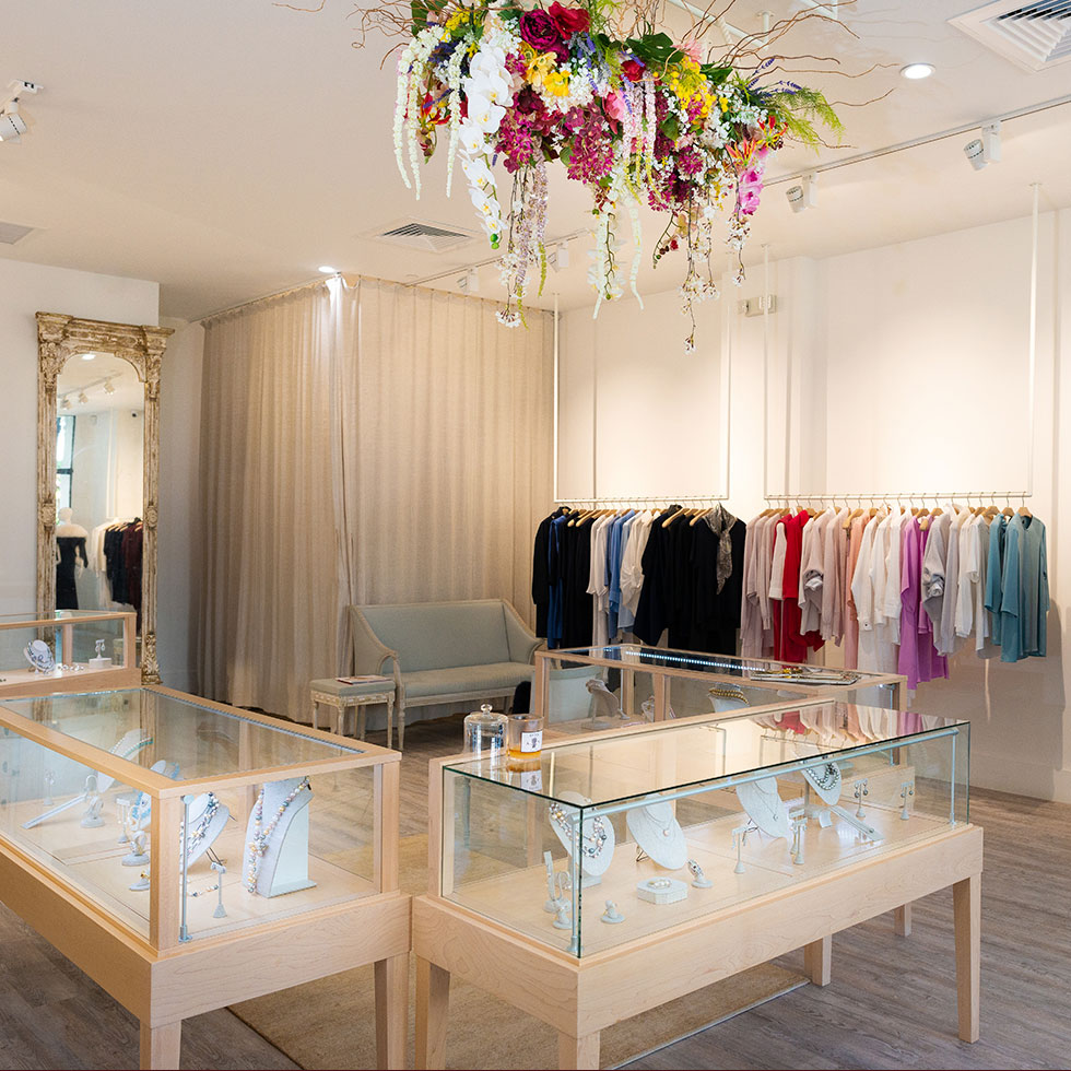 Locations - Be sure to stop by one of our locations to say hello! We are located in Palm Beach, Florida at The Royal Poinciana Plaza. We are also located in Nantucket, Massachusetts on South Beach Street on your way to the White Elephant Hotel. Our New York Atelier located in Chelsea is open by private appointment only, but we'd love to meet you. Please reach out to any of our locations to set up an appointment at Valentina Kova New York!