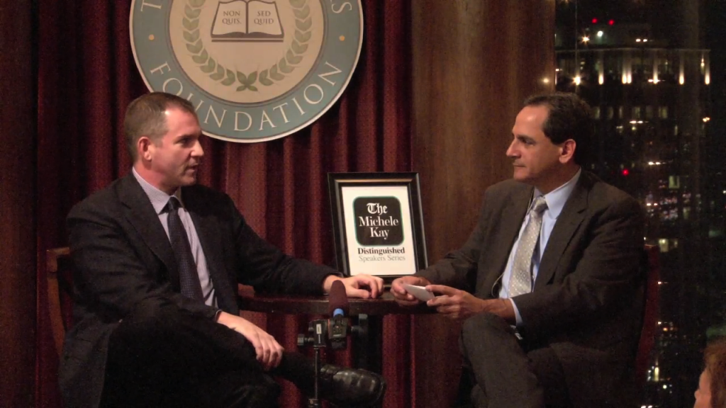 Frank Bruni of the New York Times and Ken Herman of the Austin American-Statesman.