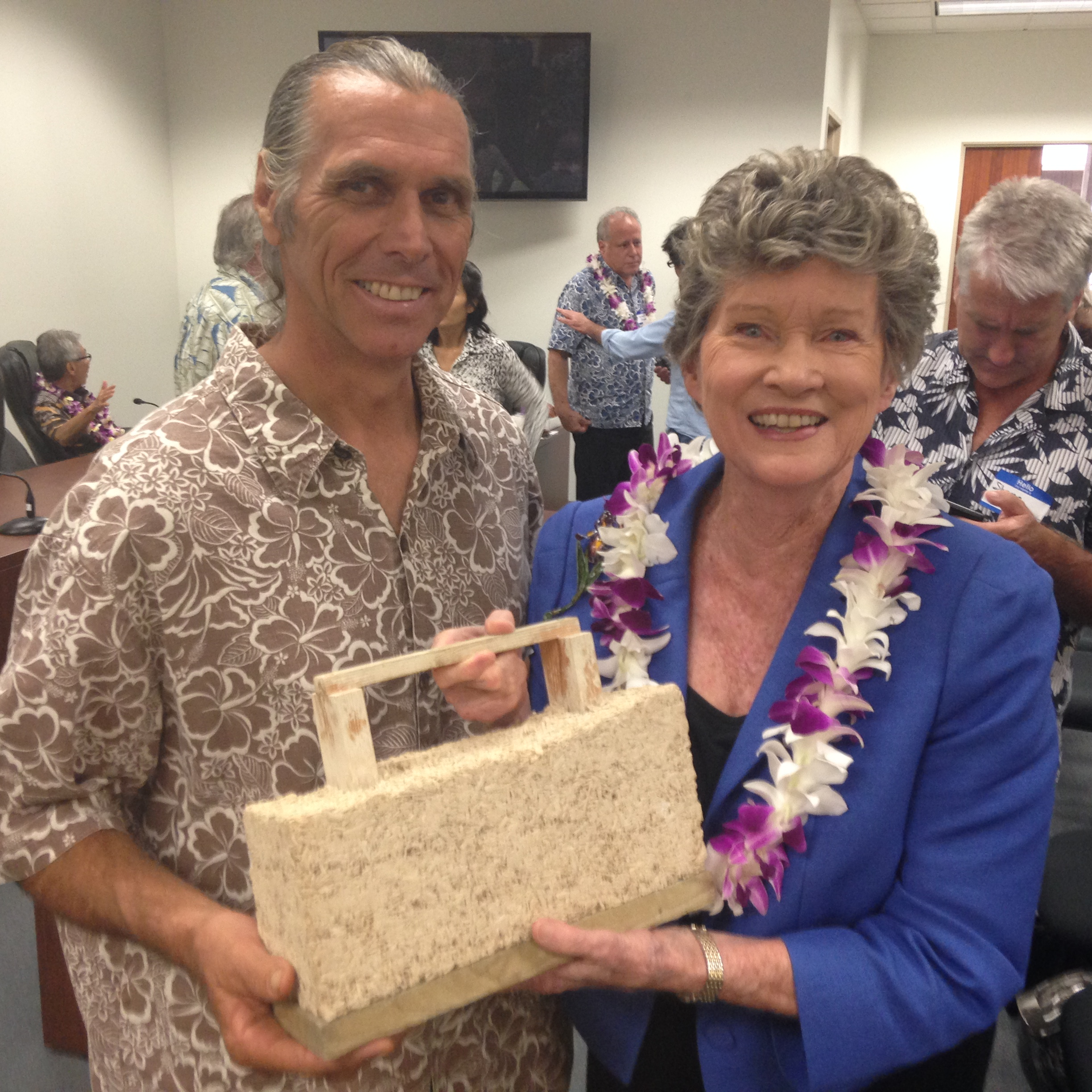 With Hawaii State Representative Cynthia Theilen, a leader in the governments effort to legalize hemp production.