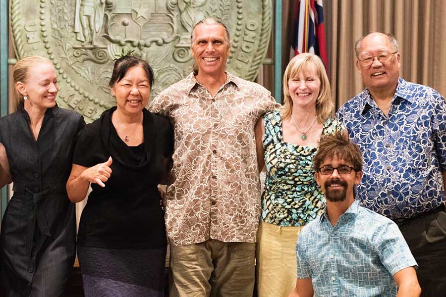 Clarence Baber at the Hawaii State Capital, July 7th, 2016, for the Industrial Hemp Bill Signing Ceremony with Hawaii Governor David Ige.
