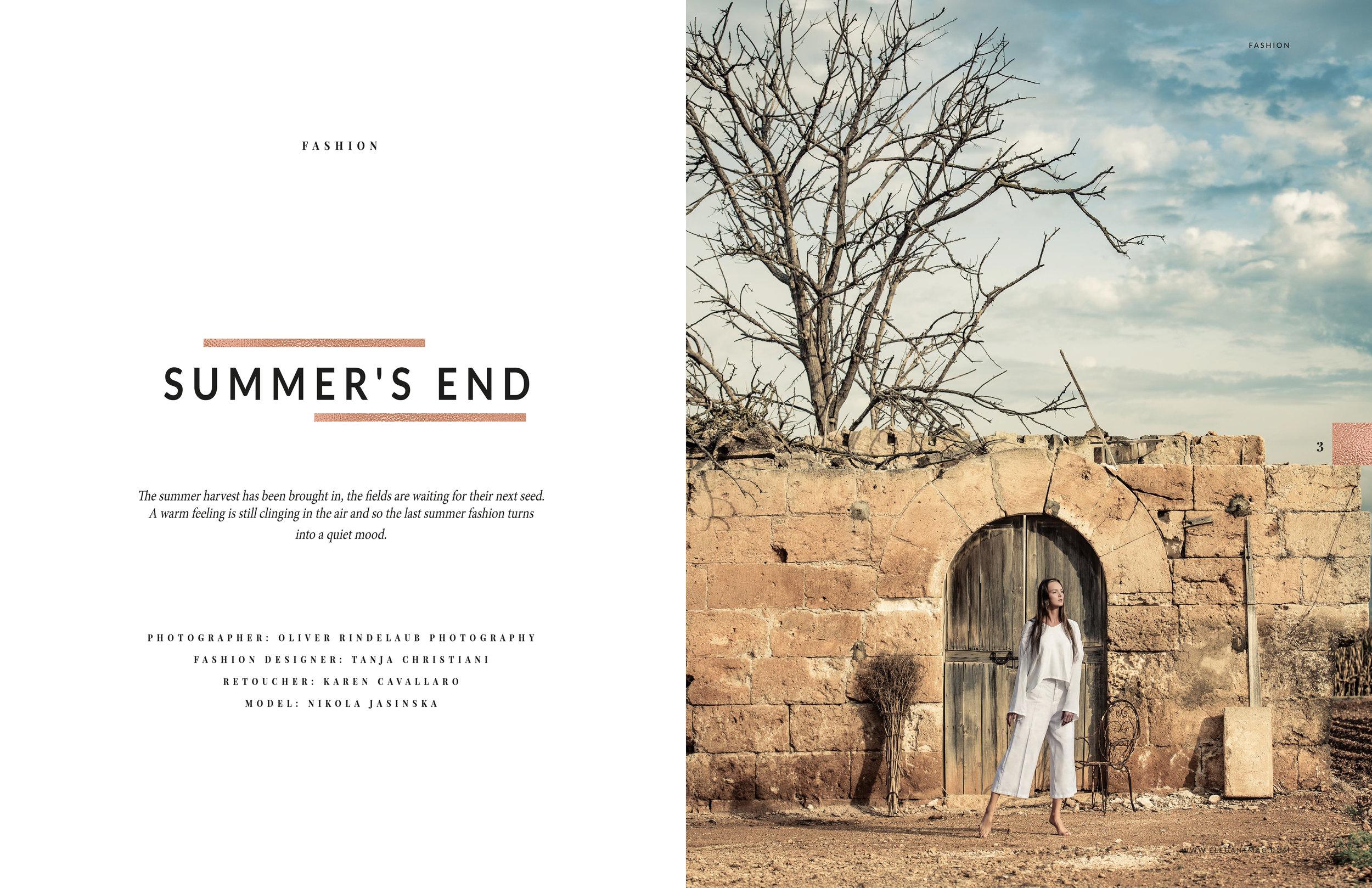Photography -  Oliver Rindelaub  Model -  Nikola Jasinska  Retoucher - Karen Cavallaro October Issue of  ELEGANT MAGAZINE