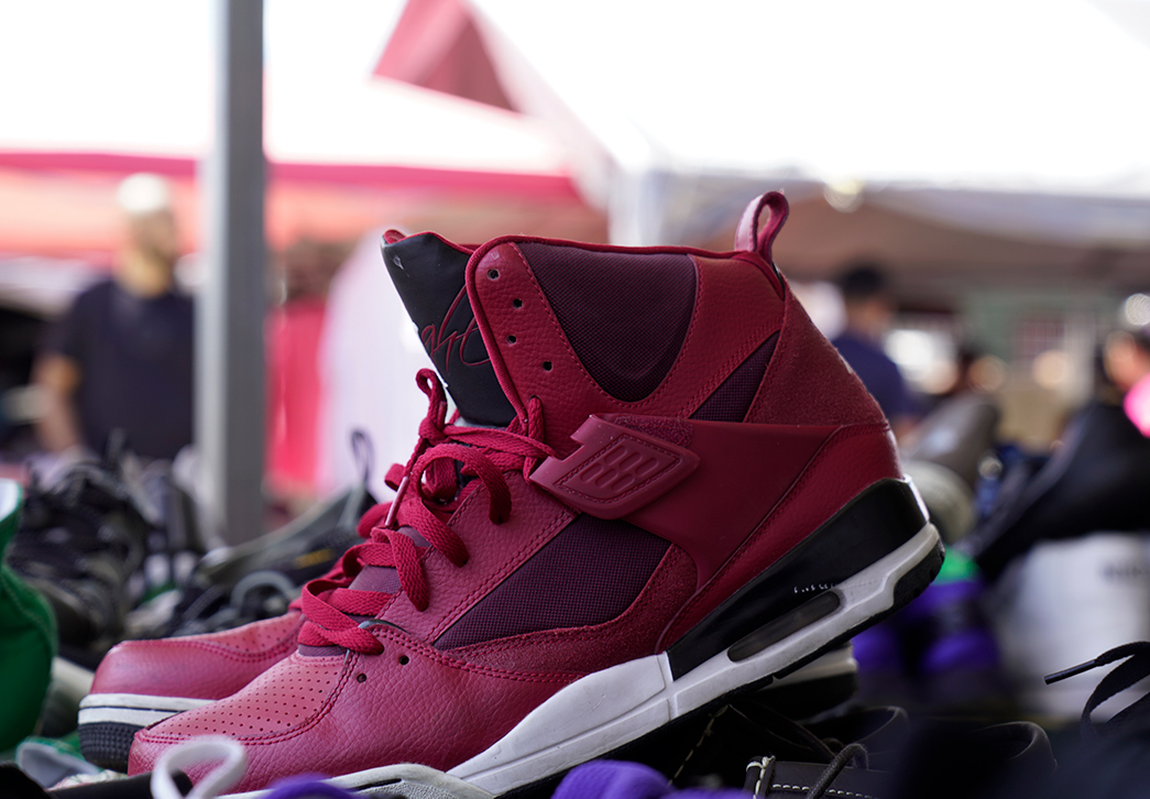 Jordan's for sale at one of our outdoor vendor booths! Find these and many more fashion staples at our Market!