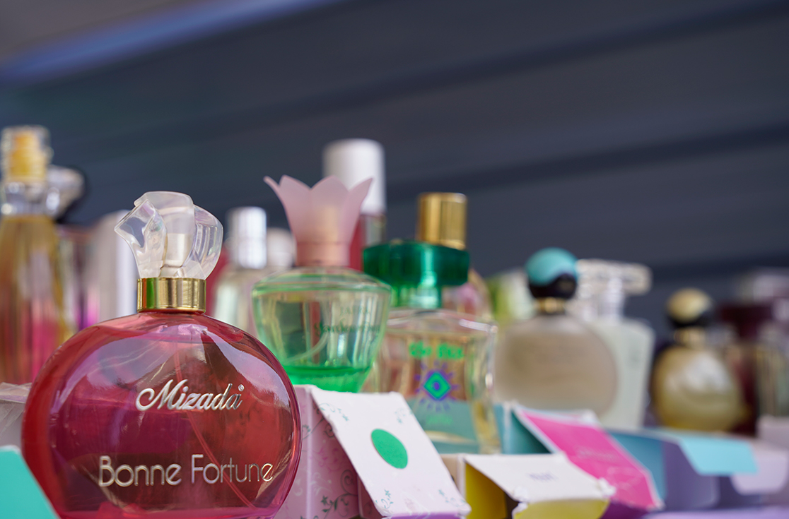Name brand perfumes at one of our outdoor vendor booths. Great gifts and additions to your collection!