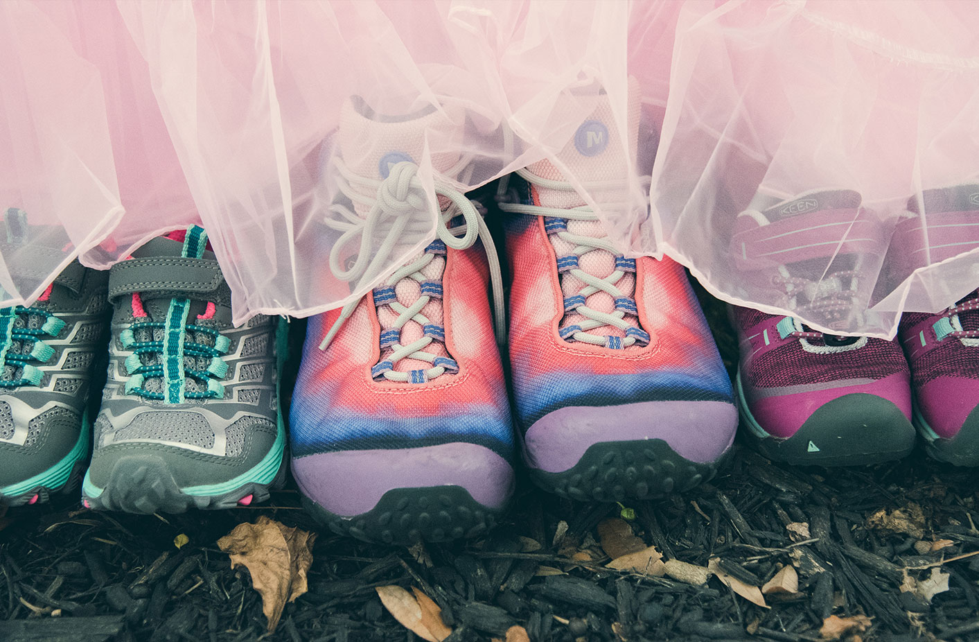 TUTUS - AND HIKING BOOTS