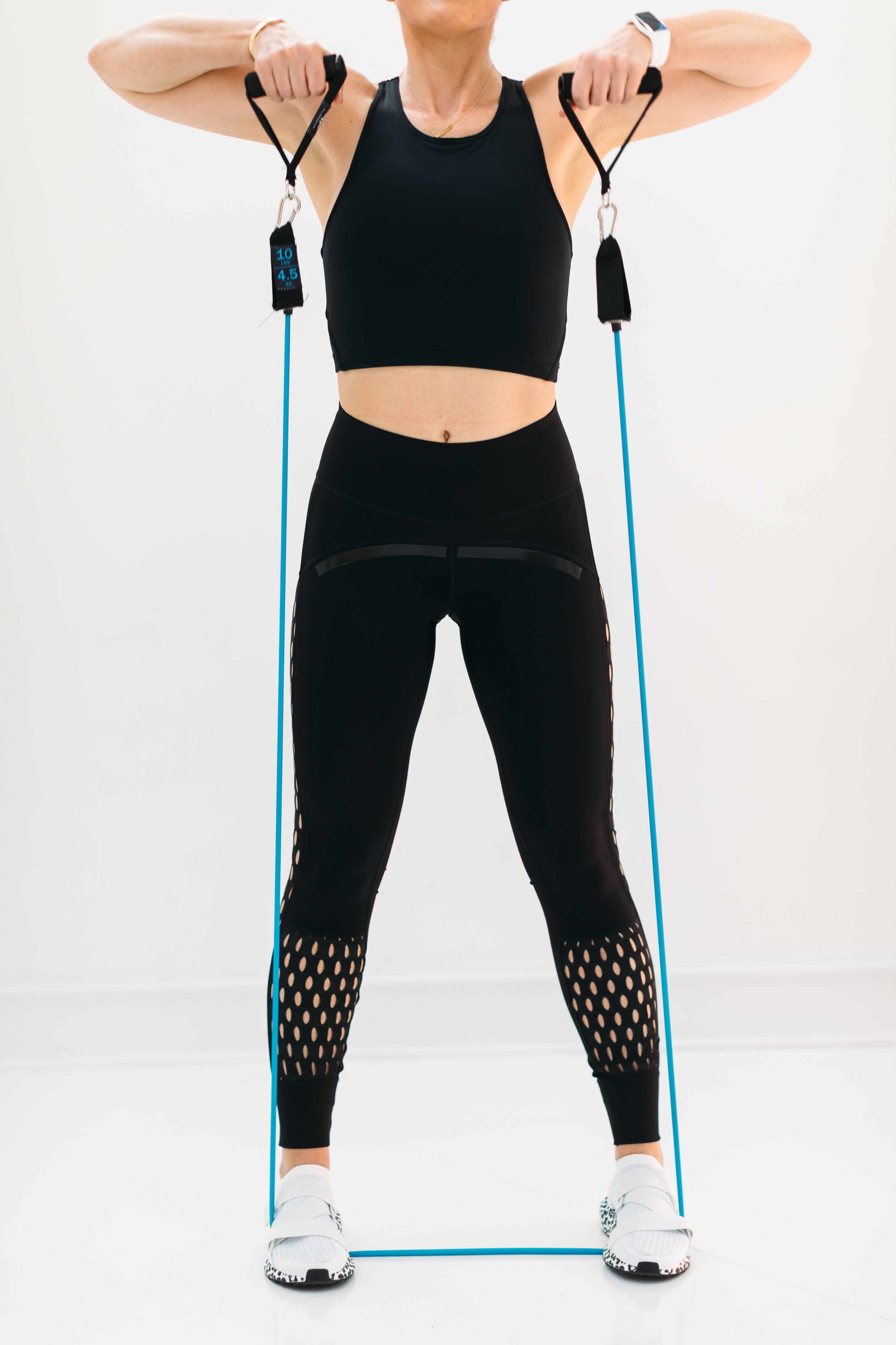 Pants and shoes are Stella McCartney X Adidas from Carbon38