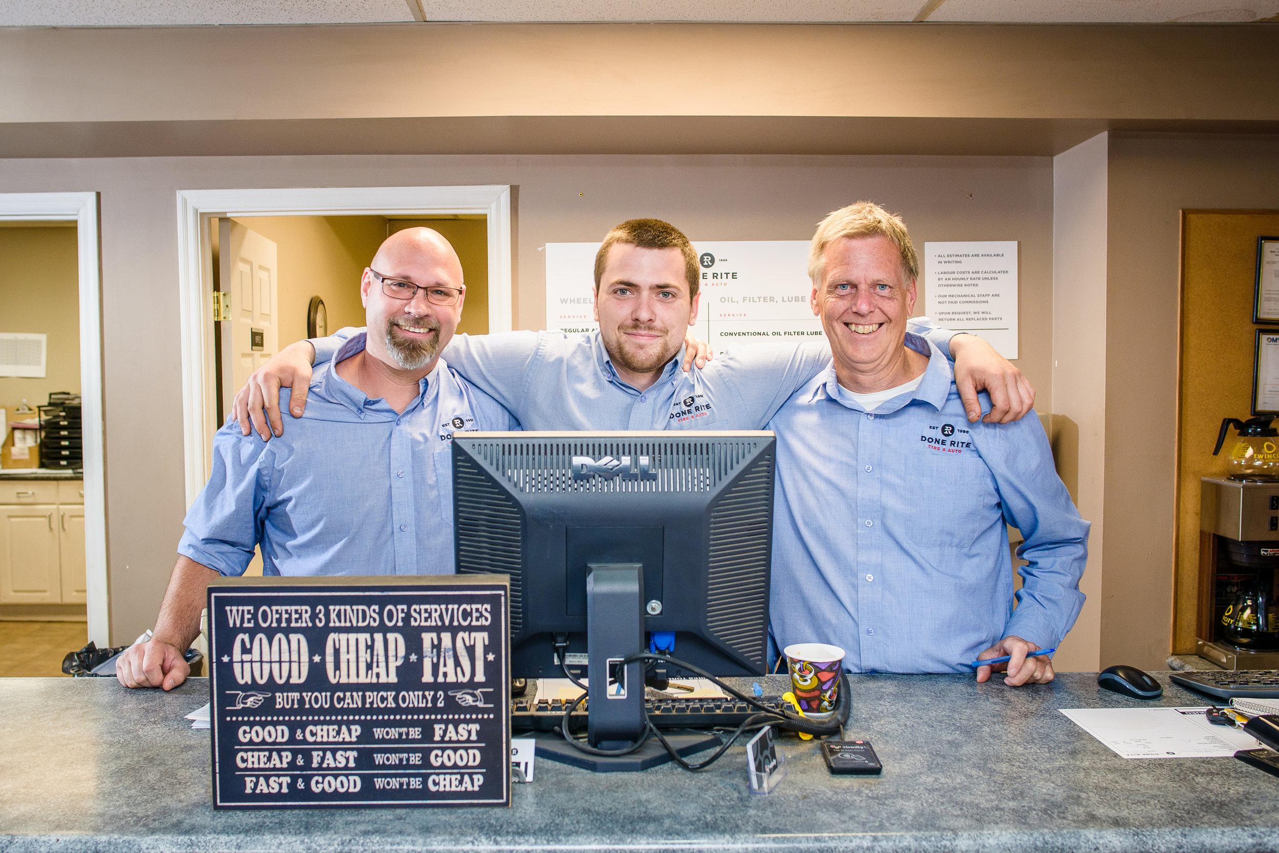Service Professionals, Done-Rite Tire & Auto