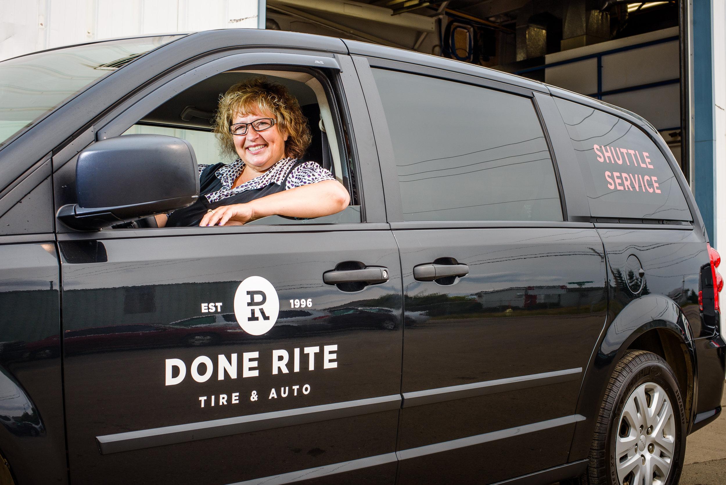 Shuttle Service, Done-Rite Tire & Auto