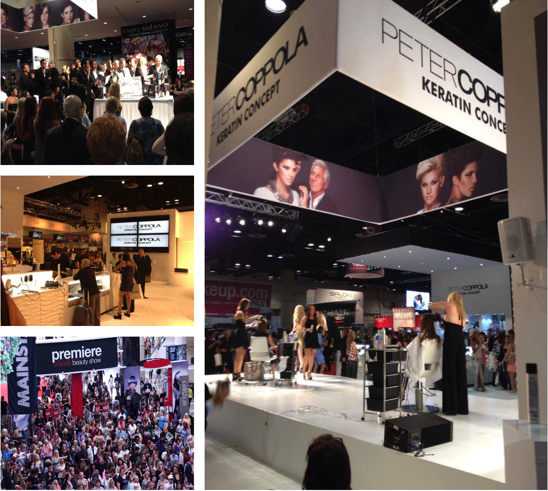 Trade Shows - Peter Coppola is a hair legend who has been in the industry for over 30 years. He launched his own line of premier hair products in early 2012. His debut was at the Premiere Orlando Show 2013. I was the main leads for the production of this event.•Over 55,000 attendees•Leading stylist, and hair care professionals•The premiere hair, nail and skincare trade show
