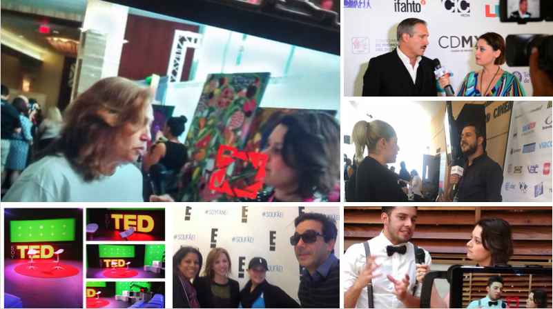 Interviews and Production Events - - E! Entertainment Latin America SoyFanE! Workshop- SoyTED by Ted Talks- Journalistic Interviews; Miami & Mexico