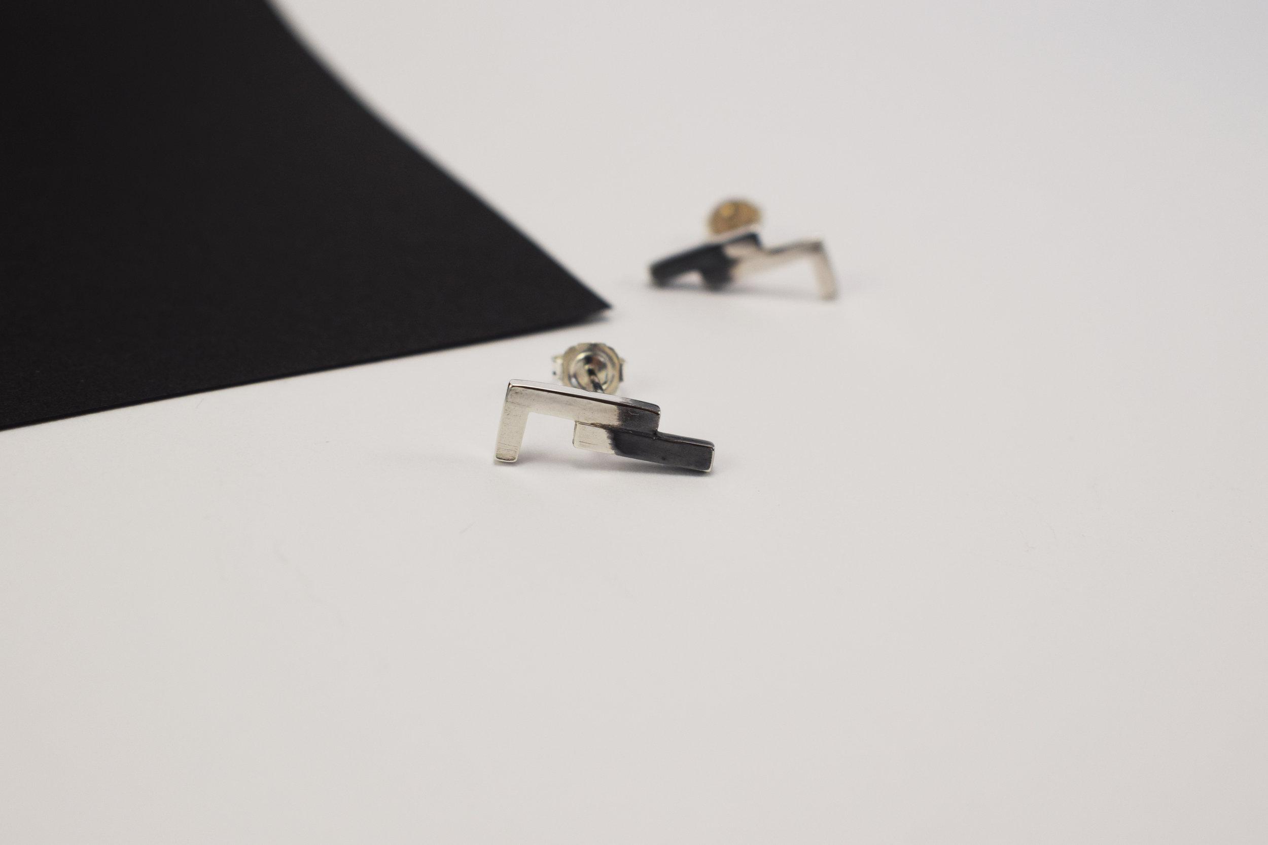 ONE Silver Stud Earrings