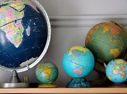 globe collection Apartment Therapy