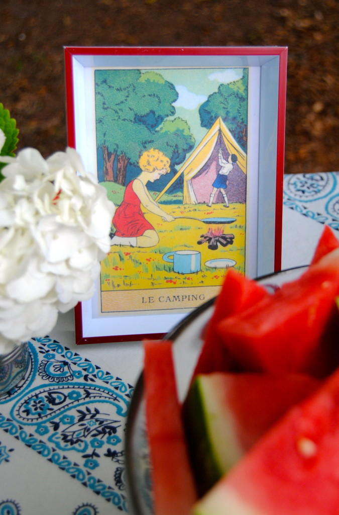 """Le Camping"" vintage print"