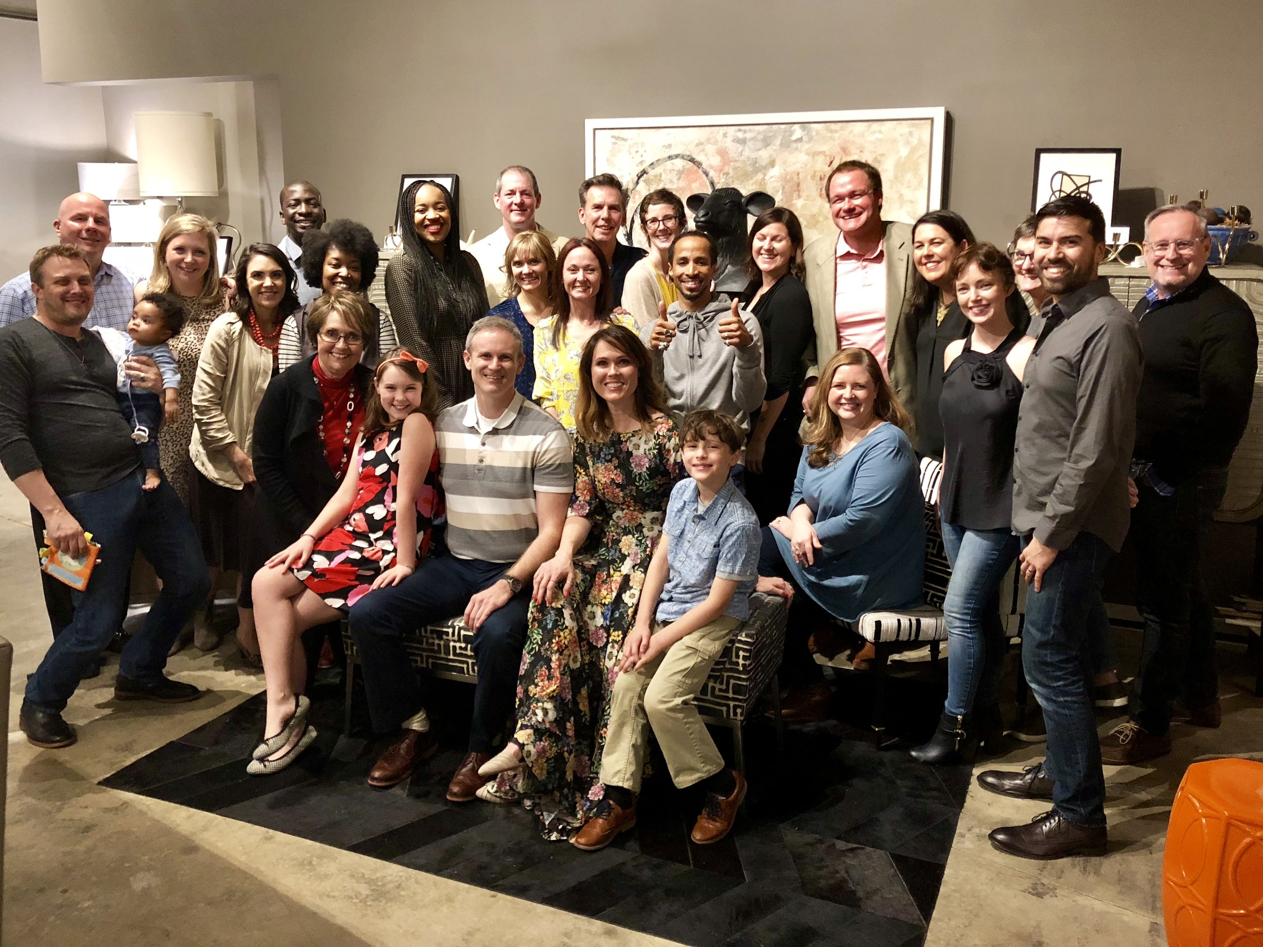 Fantastic group of friends, family, and clients that closed out the celebration!