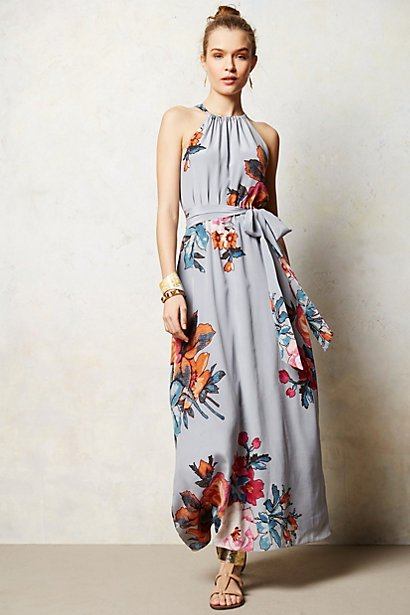 Anthropologie Floral Three-Act Maxi Dress