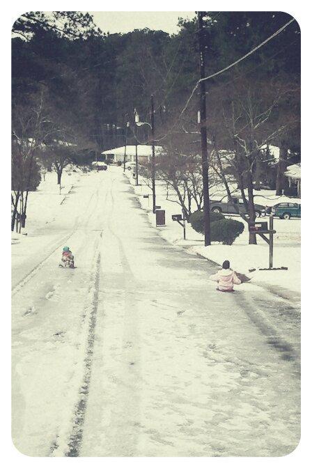 street sledding
