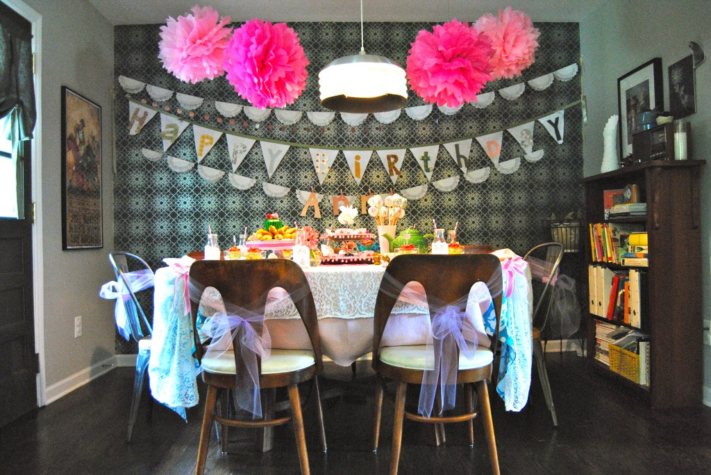 The focal point of the house was the table scape and with height, scale and loads of volume, detail and color, it was magical!
