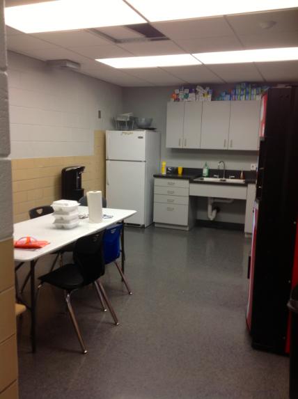 """Break room """"Before"""" shot. Looks like we're good on Ziploc bags!"""