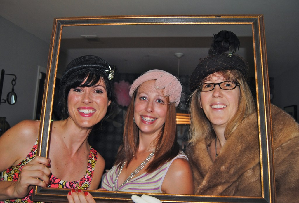 Moms got adorned with vintage hats and stoles at the dress up area, too!