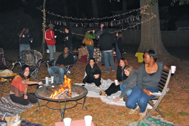 Friends and Fireside Frivolity