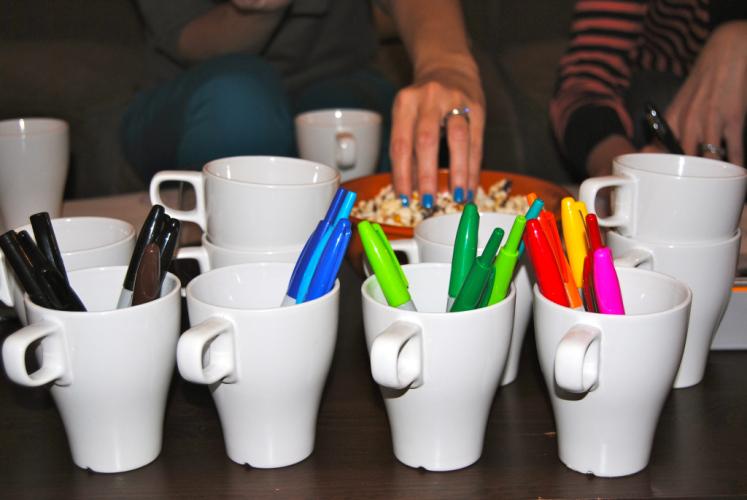 Mugs & Pens: The Supplies