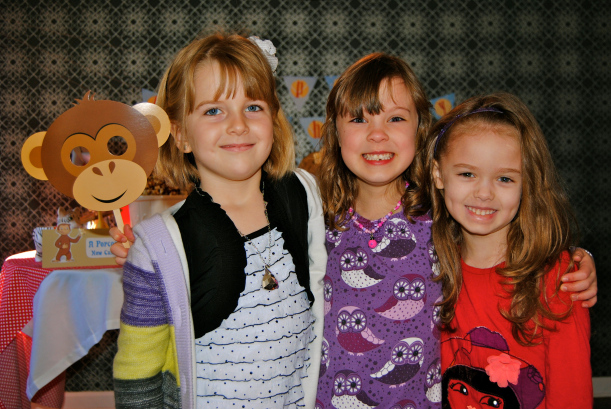 Caleb was nice enough to invite his big sister and her monkey buddies to his party.