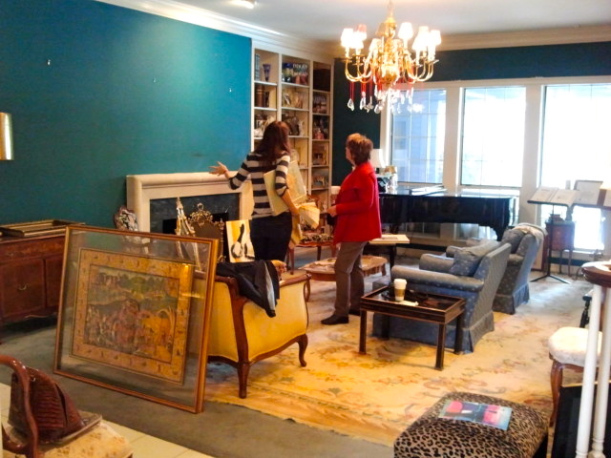 We love turquoise, but in this room, it completely takes over. Time for an update!